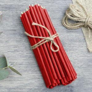 Свеча восковая красная для ритуалов